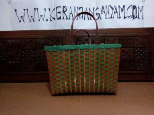 Tas Anyaman Plastik Kotak Kombinasi Bening Kaca