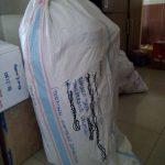 Pengiriman keranjang parcel anyaman plastik