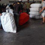 Jasa Packing pengiriman tas anyaman