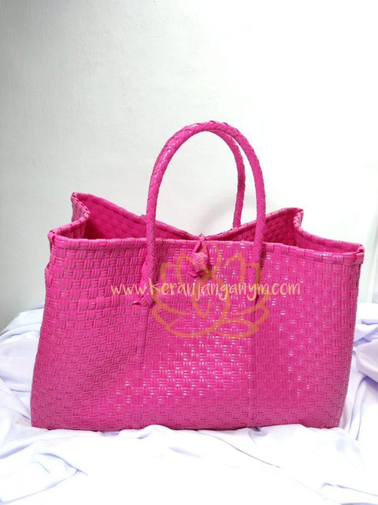 Tas Anyaman Jali Warna Pink